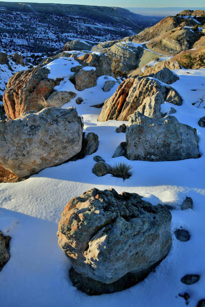 Photograph - Fading Light On Boulders Overlooking Bangs Canyon by Ray Mathis