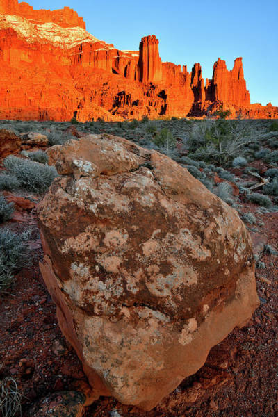 Photograph - Fading Light On Fisher Towers In Utah by Ray Mathis