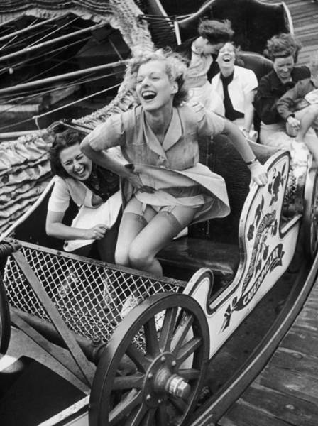 Uk Photograph - Fair Fun by Kurt Hutton