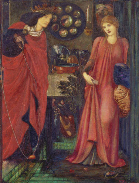 Wall Art - Painting - Fair Rosamund And Queen Eleanor - Digital Remastered Edition by Edward Burne-Jones