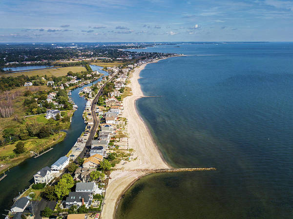 Wall Art - Photograph - Fairfield Beach Connecticut Aerial by Stephanie McDowell