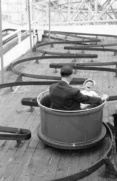 Laughing Photograph - Fairground Fun by Thurston Hopkins