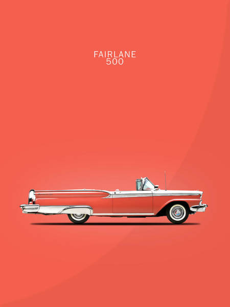 Ford Fairlane Photograph - Fairlane 500 by Mark Rogan