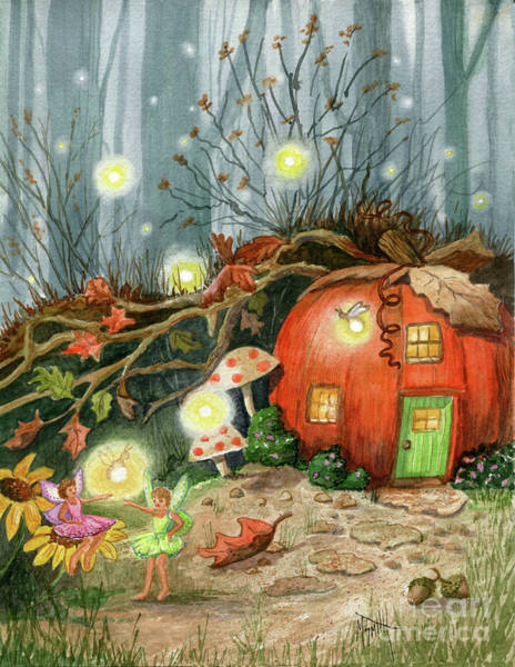 Painting - Fairy And Firefly Fantasy by Marilyn Smith