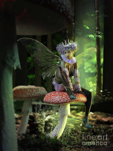 Wall Art - Digital Art - Fairy At The Bottom Of The Garden by Shanina Conway
