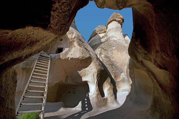 Nevsehir Photograph - Fairy Chimneys Rock Formation In by Izzet Keribar