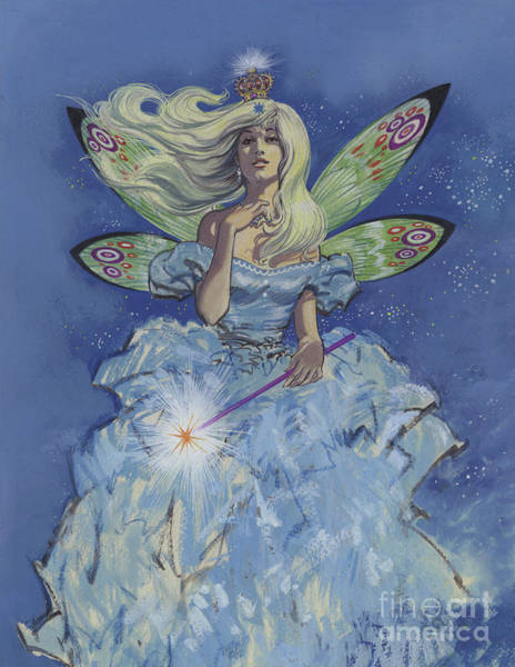 Wall Art - Painting - Fairy Godmother  by English School