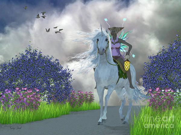 Mirage Digital Art - Fairy Lila With Unicorn by Corey Ford