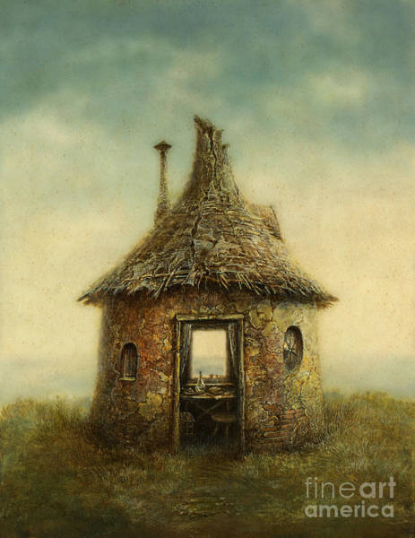 Wall Art - Digital Art - Fairy Tale House, Painted With Acrylic by Slava Gerj