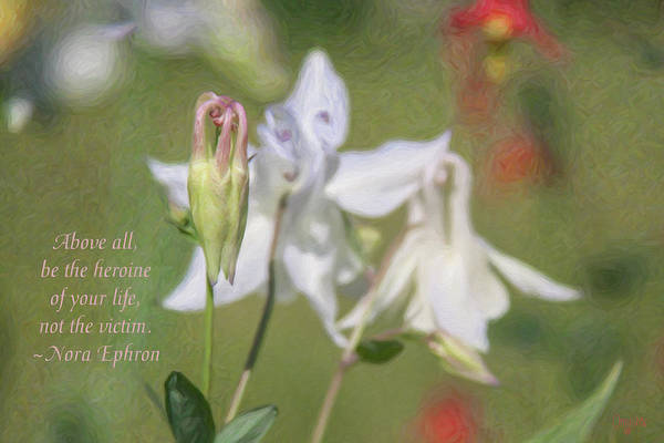 Mixed Media - Fairytale Life - Motivational Flower Art By Omaste Witkowski by Omaste Witkowski