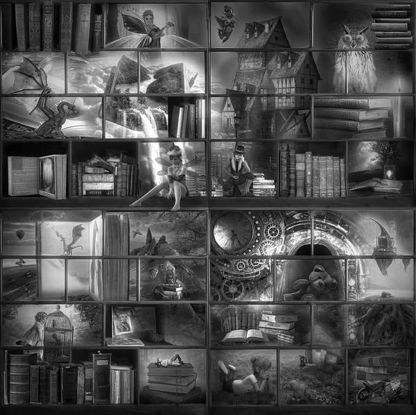 Digital Art - Fairytales In Black And White by Debra and Dave Vanderlaan