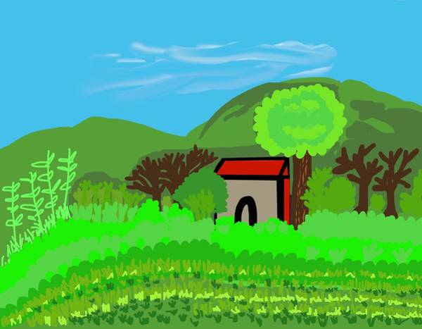 Wall Art - Digital Art - Faith And Farmland  by Joan Ellen Kimbrough Gandy