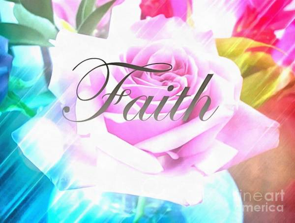 Painting - Faith Flowered Art In Thick Paint by Catherine Lott