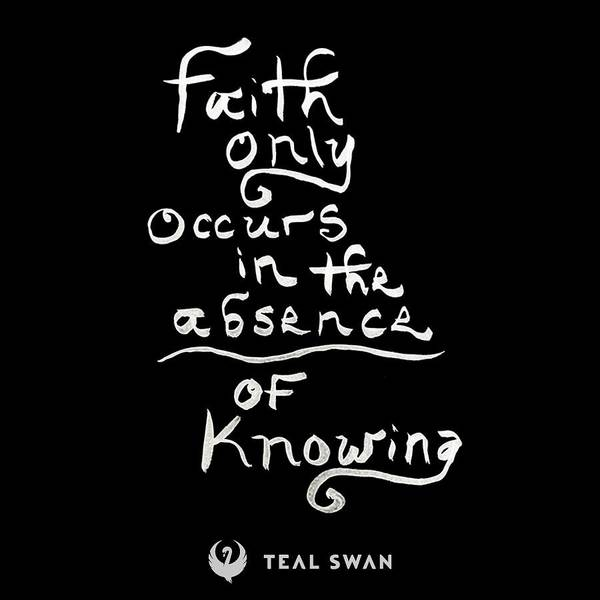 Painting - Faith Quote by Teal Eye Print Store