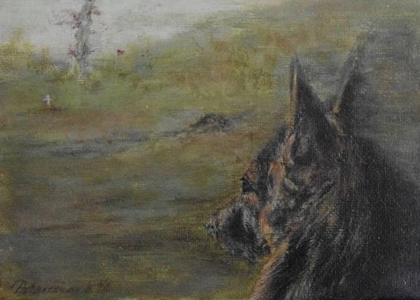 Service Dog Painting - Faithful Friend by HiAngelArts -