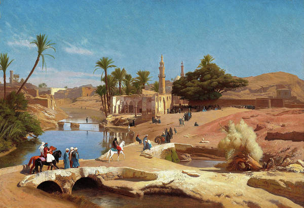 Wall Art - Painting - Faiyum Landscape - Digital Remastered Edition by Jean-Leon Gerome