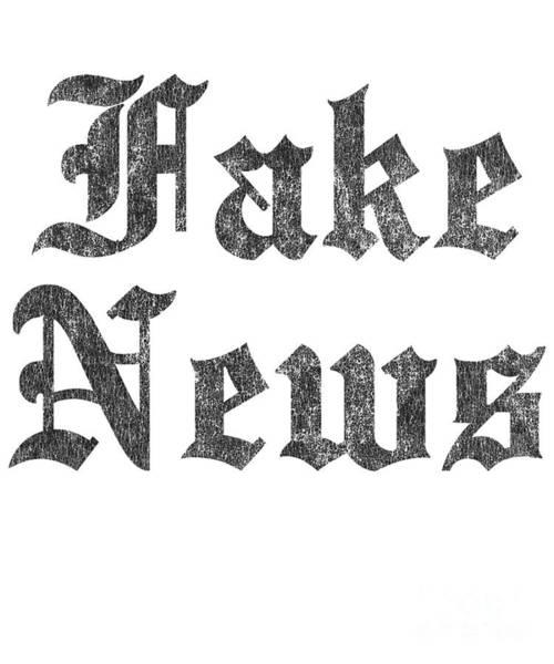 Digital Art - Fake News Vintage by Flippin Sweet Gear