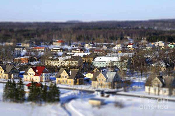 Wall Art - Photograph - Faked Tilt Shift City In Estonia by Tatjana Kruusma
