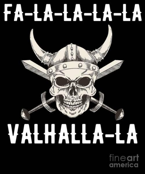 Ugly Digital Art - Falalala Valhallala Viking God Christmas by The Perfect Presents