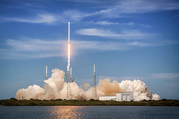Photograph - Falcon Heavy Launch, Outer Space Image by Bill Swartwout Photography