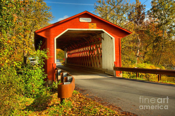 Photograph - Fall Afternoon At The Silk Covered Bridge by Adam Jewell