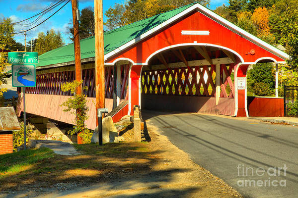 Photograph - Fall Afternoon At The Thompson Covered Bridge by Adam Jewell