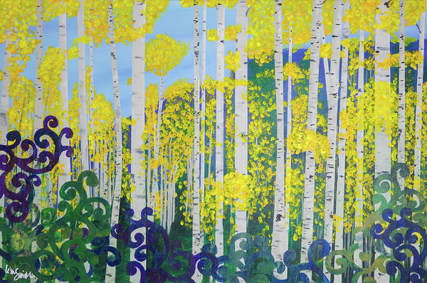 Painting - Fall Aspens by Lisa Smith