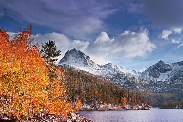 Bishop Photograph - Fall Aspens Under Sierra Peaks by Russ Bishop