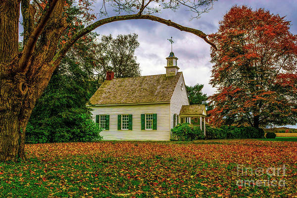 Photograph - Fall At A Country Church by Nick Zelinsky