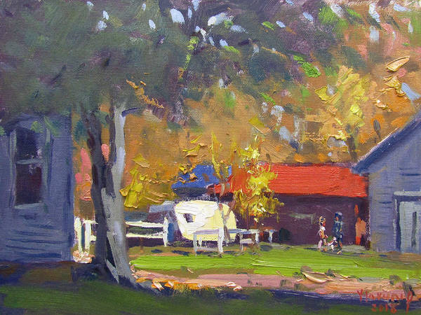 Wall Art - Painting - Fall At My Neighborhood by Ylli Haruni