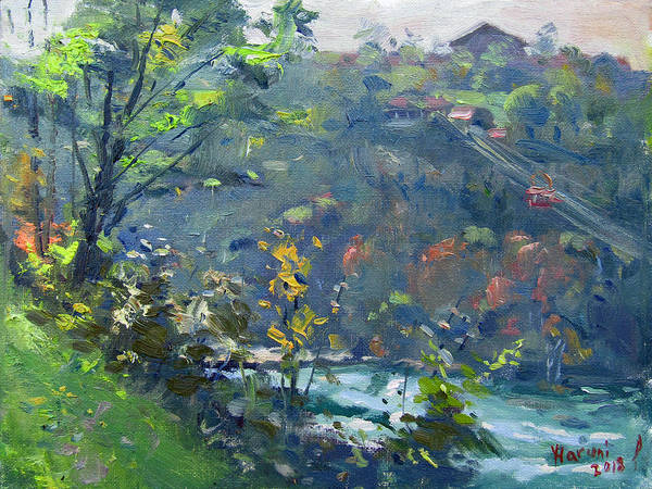 Wall Art - Painting - Fall At Niagara Gorge by Ylli Haruni