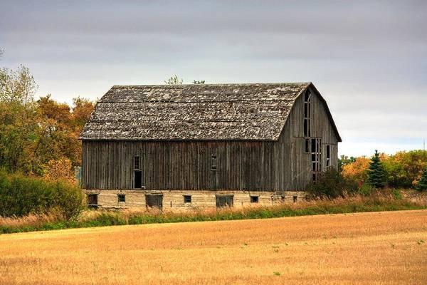 Photograph - Fall Barn  by David Matthews