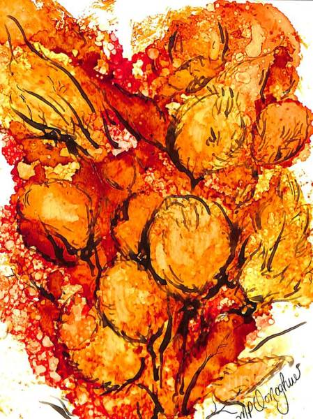 Wall Art - Painting - Fall Bloom by Patty Donoghue