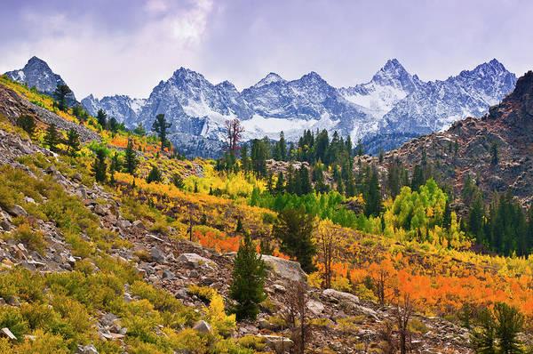 Bishop Photograph - Fall Color Along Bishop Creek by Russ Bishop