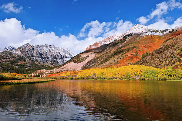 Bishop Photograph - Fall Color And Early Snow At North by Russ Bishop