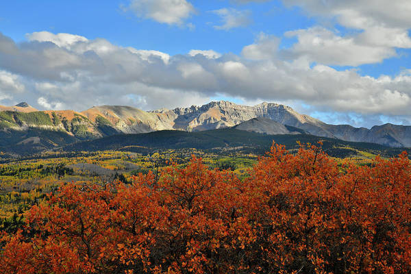Photograph - Fall Color Frames Mountain Skyline Above Telluride by Ray Mathis