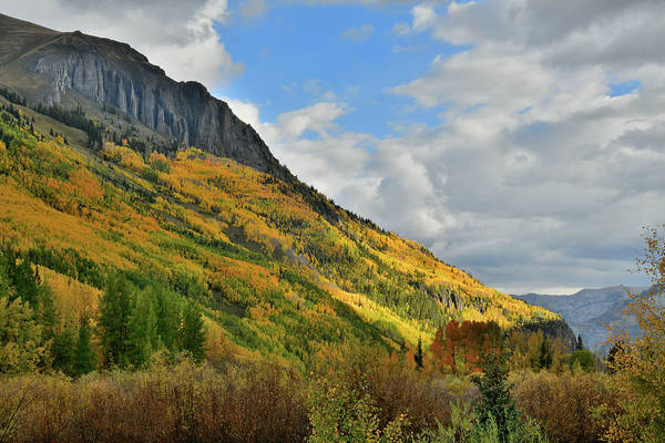Photograph - Fall Colors Above Crystal Lake Along Million Dollar Highway by Ray Mathis