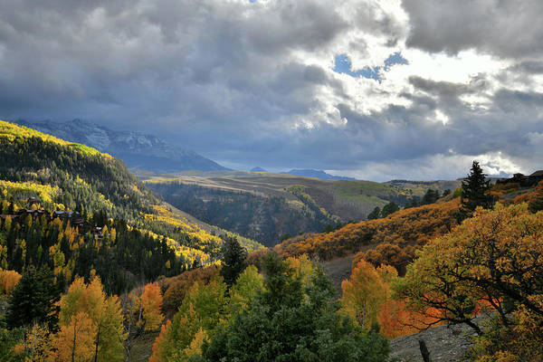Photograph - Fall Colors Above Highway 145 Near Telluride Airport by Ray Mathis
