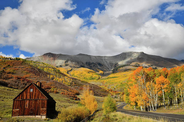 Photograph - Fall Colors Above Telluride Co by Ray Mathis