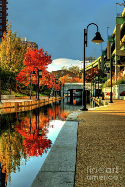 Richmond Virginia Wall Art - Photograph - Fall Colors Along The Canal by Tim Wilson