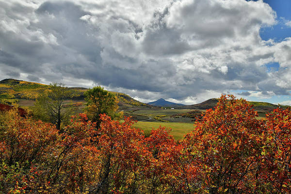 Photograph - Fall Colors And Clouds Along Last Dollar Road by Ray Mathis