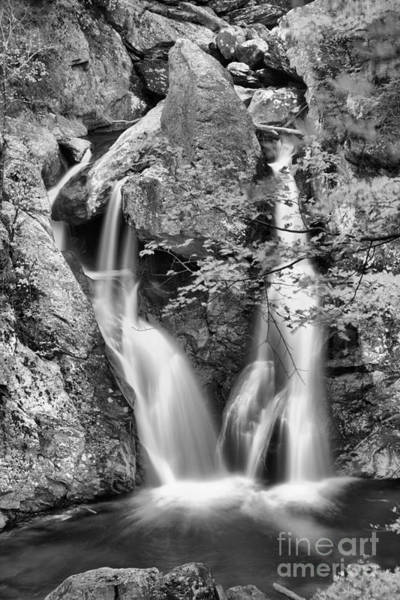 Photograph - Fall Colors At Bash Bish Falls Black And White by Adam Jewell