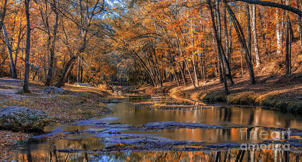Photograph - Fall Colors On Broad River by Bernd Laeschke