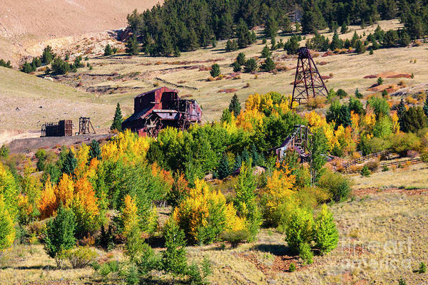 Photograph - Fall Colors On Historic Gold Mines by Steve Krull