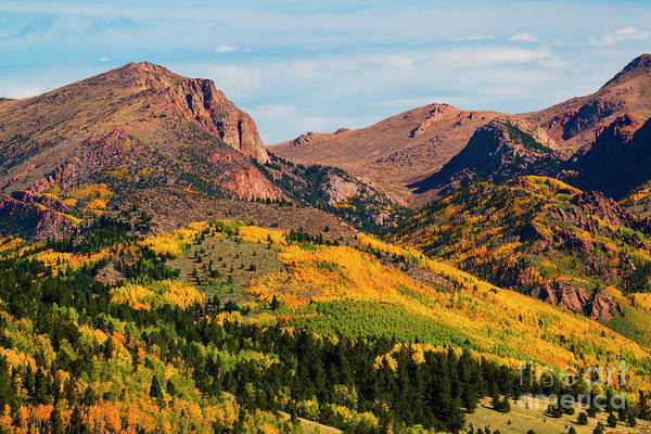 Photograph - Fall Colors On The North Face Of Pikes Peak by Steve Krull