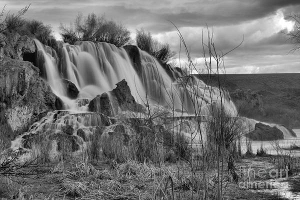 Photograph - Fall Creek Falls From The Snake River Black And White by Adam Jewell