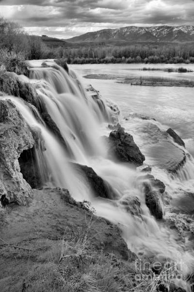 Photograph - Fall Creek Falls Into The Snake Black And White by Adam Jewell