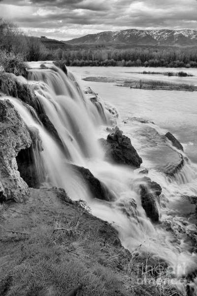 Photograph - Fall Creek Falls Portrait Black And White by Adam Jewell