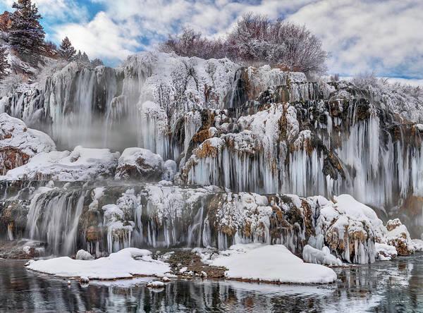Photograph - Fall Creek Falls Winter by Leland D Howard