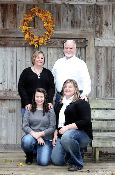 Photograph - Fall Family Portrait by Trina Ansel